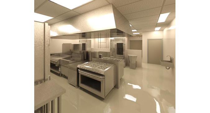 Commercial kitchen layout examples architecture design for Blueprints of restaurant kitchen designs