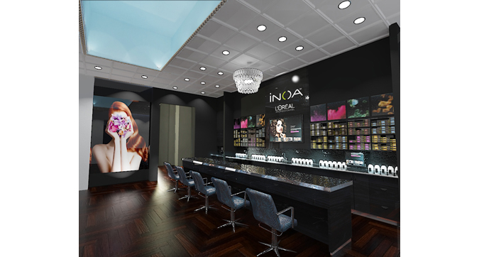 Rendering From Design Documents For New Salon, Texas.